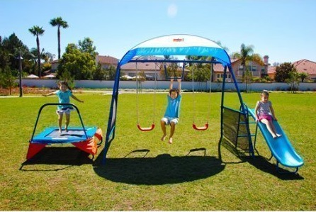 NEW Inspiration 250 Fitness Playground Metal Swing Set Toy