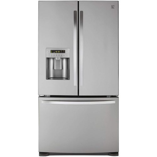 Kenmore 73055 26.8 cu. ft. French Door Bottom Freezer Refrigerator in Stainless Steel with Active Finish, includes delivery and hookup