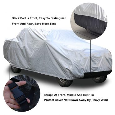 """kayme 6 Layers Truck Cover Waterproof All Weather, Heavy Duty Outdoor Pickup Cover Sun Uv Rain Protection, Universal Fit (Length Up to 242"""") XL"""