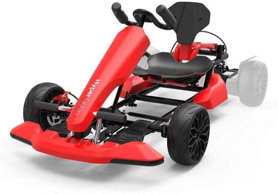"""HYPER GOGO Go Kart Kit for Kids and Adults, Hoverboard Attachment - Compatible with All Hover Boards Like 4.5"""" 6.5"""" 8.5"""" hoverboards, (only Go-Kart), Red"""