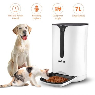 Balimo Smart Pet Feeder with Personalized Portions for Cats and Dogs, Timed Cat Feeder Without or With Wi-Fi, Supports App for Android, iOS and Works with Amazon Alexa/Google Nets,7L
