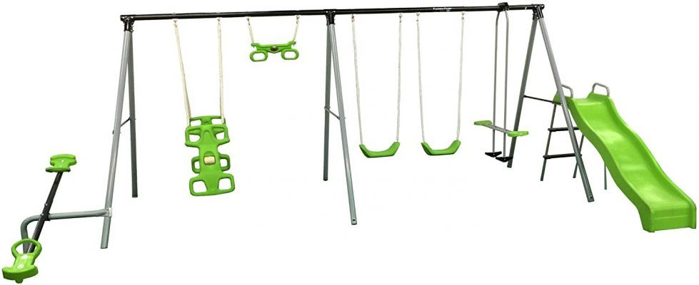 "Flexible Flyer ""World of Fun Swing Set"