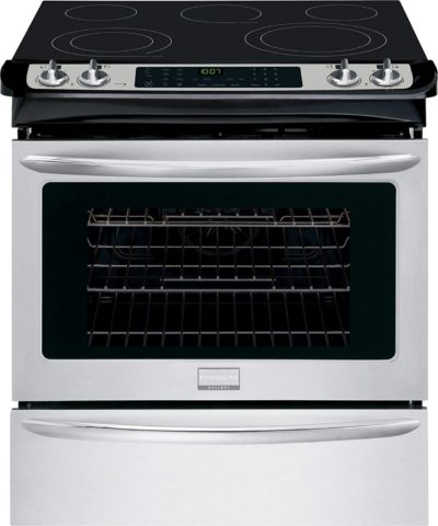 "Frigidaire FGES3065PF Gallery 30"" Stainless Steel Electric Slide-In Smoothtop Range - Convection"