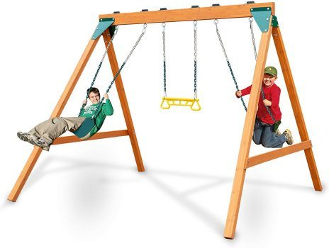 Swing-N-Slide PB 8360 Ranger Wooden Swing Set with Swings