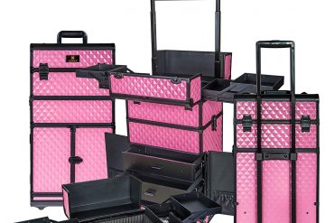 SHANY REBEL Series Pro Makeup Artists Rolling Train Case - Trolley Case - Provocative Rose