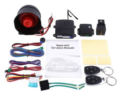 Remote Car Alarm Security System, 1-Way Alarm and Keyless Entry System with Shock Sensor & 2 Remotes