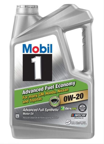 Mobil 1 120758 Advanced Full Synthetic Motor Oil for 0W-20 5, 4.73L