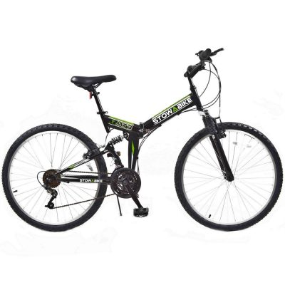 "Stowabike 26"" MTB V2 Folding Dual Suspension 18 Speed Gears Mountain Bike"