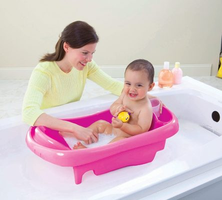 The First Years Sure Comfort Deluxe Newborn to Toddler Tub Pink