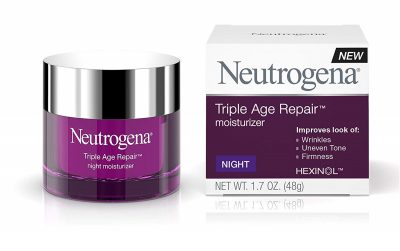 Neutrogena Triple Age Repair Anti-Aging Night Face Cream with Vitamin C to Fight Wrinkles & Even Tone, Dark Spot Remover & Firming Face & Neck Cream with Glycerin & Shea Butter, 1.7 oz