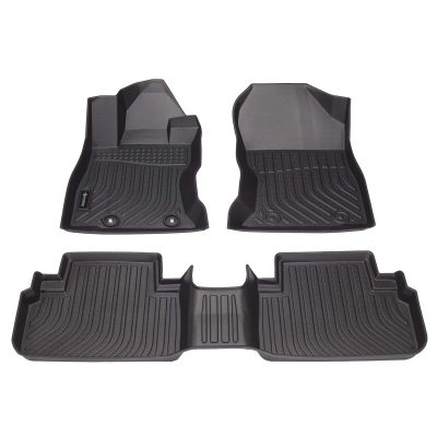 Findway F100 3D Car Floor Mat / Liner ( TPE Rubber) for 2019, 2020 Subaru Forester - All Weather, Digital Measured, Custom Fit, Waterproof. Ship from Canada, 3-Year Warranty. Full Set for 1st row and 2nd row - Black.