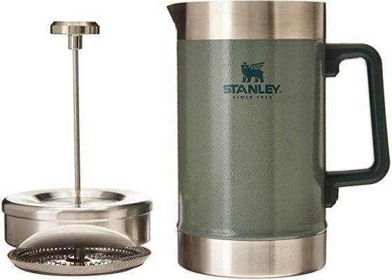 Stanley French Press 48oz with Double Vacuum Insulation, Stainless Steel Wide Mouth Coffee Press, Large Capacity, Ergonomic Handle, Dishwasher Safe,
