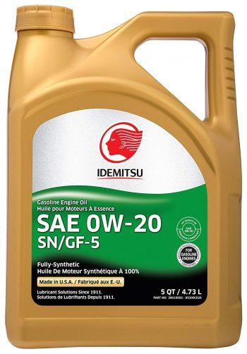 Idemitsu Full Synthetic 0W-20 Engine Oil SN/GF-5 - 5 Quart