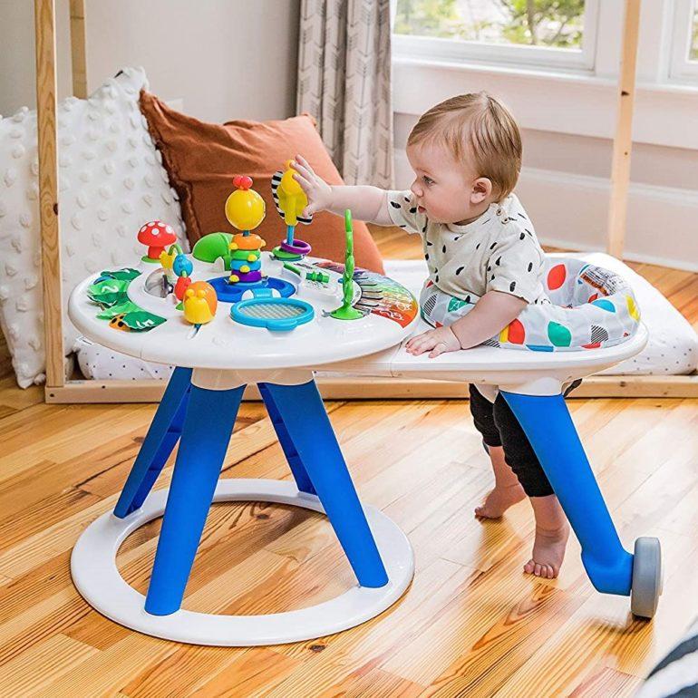 Baby Einstein Around We Grow 4-in-1 Walk Around Discovery Activity Center Table, Ages 6 Months +