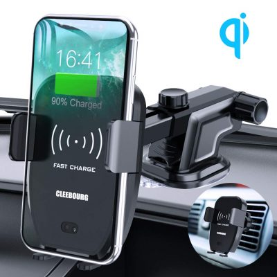 Wireless Car Charger Mount, Automatic Clamping Qi 10W 7.5W Power Fast Charging 5W Car Mount Dashboard Air Vent Phone Holder Compatible with iPhone Xs MAX/XS/XR/X/8/8+,Samsung S10/S10+/S9/S9+/S8/S8+