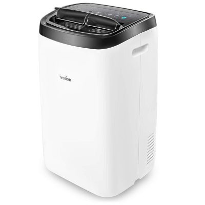 Ivation 12,000 BTU Portable Air Conditioner – Powerful AC Unit & Dehumidifier w/Remote Control, Adjustable Fan Speed, Window Kit, Digital LED Display & Multiple Operating Modes - 400 Sq/Ft Coverage