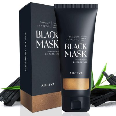 Aliceva Blackhead Remover Mask, Black Mask, Charcoal Peel Off Mask, Activated Charcoal Face Mask For All Skin Types - 50 Gram