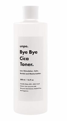 UNPA Bye Bye Cica Toner: All Natural Centella Asiatica Water-based Hypoallergenic EWG Green Level Organic Tonic, No-Fragrance Alcohol-Free, Witch Hazel Korean Face Toner Moisturizer for Dry Oily Skin