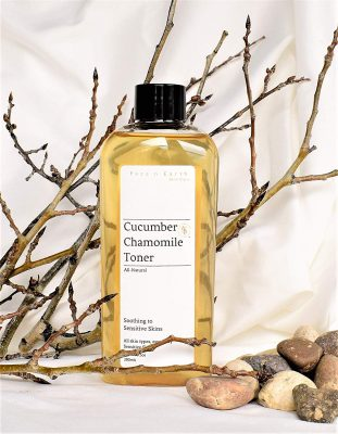 Sensitive Skin Toner Cucumber & Chamomile - Alcohol/Oil Free, All Skin Types including Sensitive Skin - Vegan Chemical Toxic Free