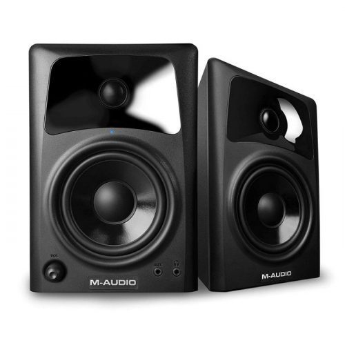 M-Audio AV42 | Compact Active Desktop Reference Monitor Speakers For Premium Playback, Professional Media Creation and Immersive Gaming Sound