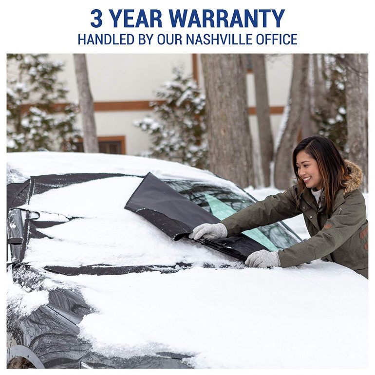 Adorllya Windshield Snow Cover,Frost Ice Protector Cover Winter Summer Premium Thicker Auto Sun Shade for Most Cars Trucks Van and SUVs