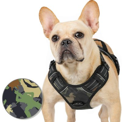 rabbitgoo Dog Harness No Pull for Large Dogs with 2 Leash Clips & Handle - Reflective Pet Soft Vest - Adjustable Easy Control Dog Training Vest - Breathable Oxford Padded for Comfort (Military Style)