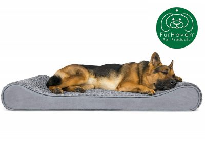Furhaven Pet Dog Bed | Therapeutic Ergonomic Luxe Lounger Cradle Mattress Pet Bed w/ Removable Cover for Dogs & Cats - Available in Multiple Colors & Styles