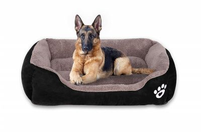 Utotol Warming Dog Beds, Rectangle Washable Pet Bed with Firm Breathable Cotton for Cats, Sleeping Orthopedic Beds