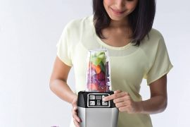 Ninja Auto-iQ Nutri Ninja Blender, Platinum | BL480 (Renewed)