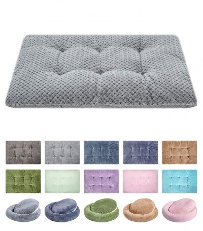 WONDER MIRACLE Fuzzy Deluxe Pet Beds, Super Plush Dog or Cat Beds Ideal for Dog Crates, Machine Wash & Dryer Friendly