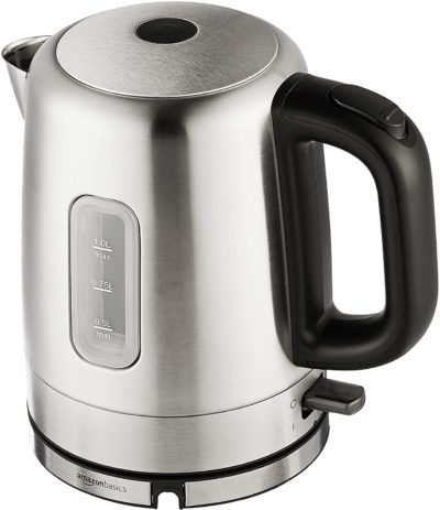 AmazonBasics Stainless Steel Electric Kettle - 1-Liter (Renewed)