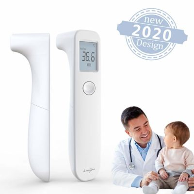 [2020 New] Infrared Forehead Thermometer, Non Contact Medical Thermometer, Fever Alarm, Memory Function, Ideal for Baby, Infants, Adults, School Office (White)