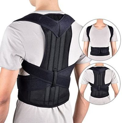 "HailiCare Posture Corrector for Men and Women, Upper Back Brace for Clavicle Support, Adjustable Back Straightener Correction for Spinal, Neck, Shoulder & Full Back Pain Relief - M (Waist 29""-35"")"