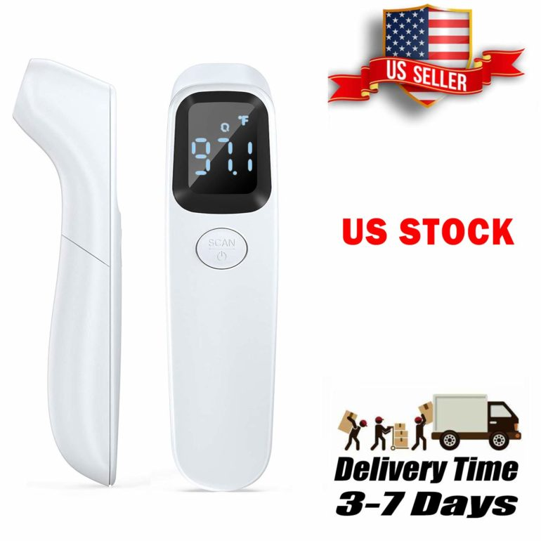 [2020 New] AuLinx Body Non-Contact IR Digital Infrared Thermometer Ear Forehead and Object Function with Fever Alarm and Memory Function Baby and Adult