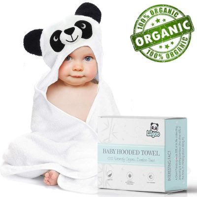 Premium Organic Bamboo Hooded Baby Towel- Large, Soft and Super Absorbent Panda Bath Towel for Boy or Girl - Large Towel for Babies, Newborns, Infants, Toddlers & Kids - Perfect Shower Gift.