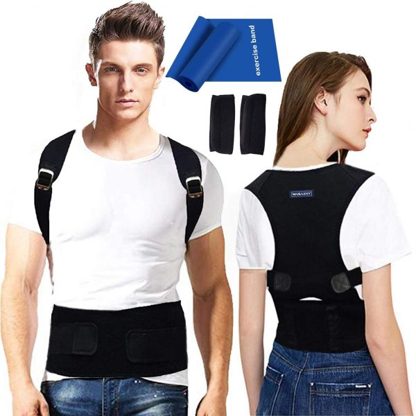 Back Brace Posture Corrector for Men - Medical Posture Brace for Women - Best Adjustable Back Corrector Provides Lumbar Support - Lower & Upper Back Pain Relief - Shoulder Kyphosis Posture Device(M)