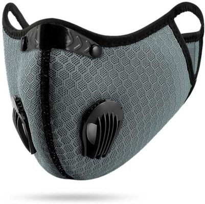 Outdoor Anti-dust Mask, PM 2.5 Windproof Cycling Facemask Washable Face Cover for Outdoor, Sports, Motorcycles (Gray)