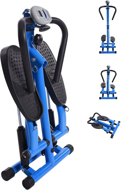 Stamina Space Saving Stepper with Upper Body Cords | Two Free Instructor Guided Online Workouts | Stream from Any Device