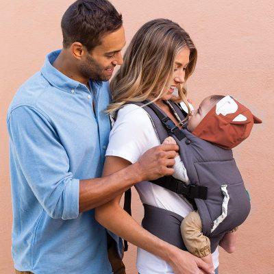 Infantino Cuddle Up Ergonomic Carrier - Fox, Orange