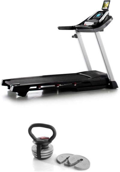 ProForm 905 CST iFit Folding Treadmill + Weider PowerBell 40 Pound Kettlebell