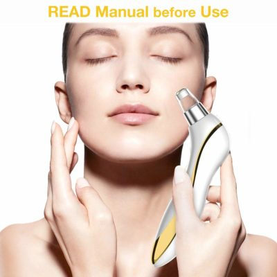 Blackhead Remover - Chamo 6 Levels Strong Suction Pore Vacuum for Nose, Face, Skin Acne Pimple w/Removal Tool (Tweezer, Needle Kit), Electric, USB Rechargeable, Led Screen, Men, Women, Teen, Gold