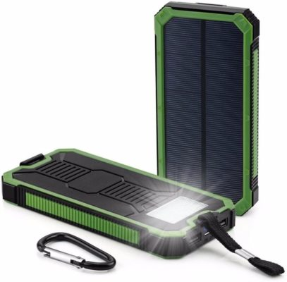 Solar Charger 30,000mAh, HaloAura Portable Dual USB Solar Battery Charger External Battery Pack Phone Charger Power Bank with Flashlight for Smartphones Tablet Camera(Green)