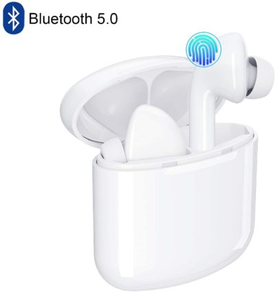 Bluetooth Wireless Earbuds 5.0 Magnetic Earphones Lightweight Ear Buds Mic Stereo in-Ear Headphones Sports Headset IPX5 Waterproof Hi-Fi Sound Charging Case Compatible Android, Samsung, iPhone, iOS