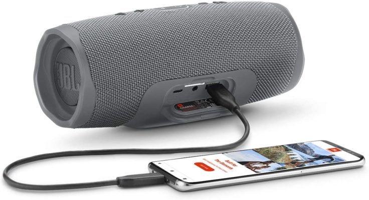 JBL Charge 4 - Waterproof Portable Bluetooth Speaker - Gray