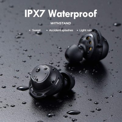 Wireless Earbuds, Mpow M30 in-Ear Bluetooth Headphones, Immersive Bass Sound, IPX7 Waterproof Sport Earbuds, Touch Control, 25 Hrs w/USB-C Charging Case/Mics, for iPhone/Samsung/Android/Windows ect