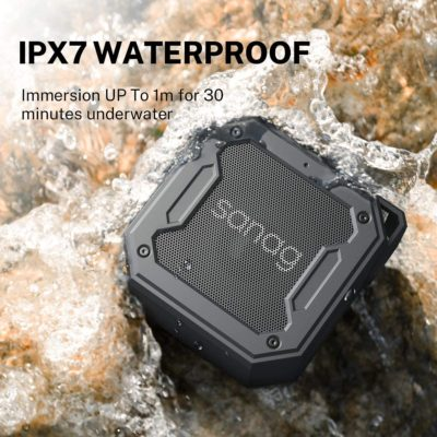 Waterproof Bluetooth Speakers,Sanag Outdoor Portable Sperker IPX7 Waterproof Wireless Speakers with 12W HD Stereo Sound,Rich Bass,Built-in Mic and AUX/SD Input for Shower,Pool,Outdoor,Travel