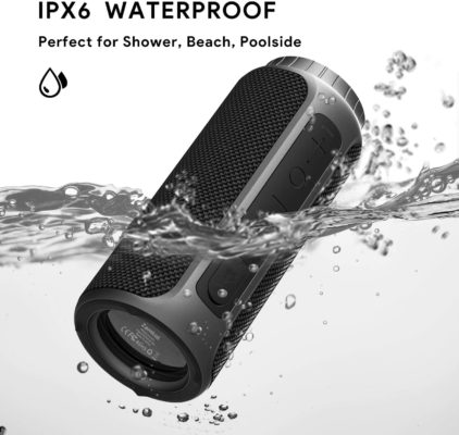 Zamkol Bluetooth Speaker 30W Waterproof Bluetooth Speakers Portable Wireless Loud Stereo Sound & Enhanced X-Bass Speaker Bluetooth 5.0, Built-in Mic, IPX6 for Home Party, Shower, Outdoor, Travel