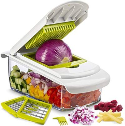 Tiabo Vegetable Chopper Slicer Dicer - Onion Chopper 3 Blade Chop Slice Dice - No More Tears Onion Slicers Choppers - Cheese - Onions - Fruits Vegetable Cutter