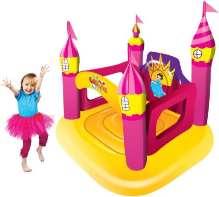 Big summer Inflatable Castle Bounce House for Girls, Blow Up Backyard Toys for Kids Ages 3-6