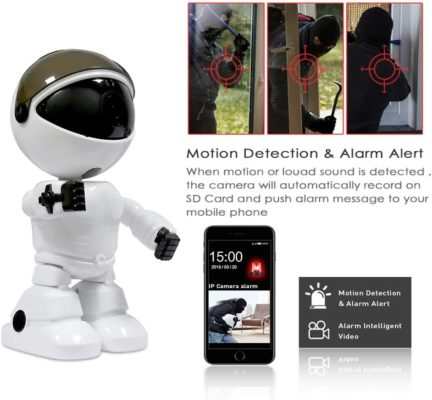 LSY Wireless Home Security Camera, 1080P Robot Intelligent Automatic Tracking Night Vision Camera, Wireless Indoor WiFi Surveillance Camera